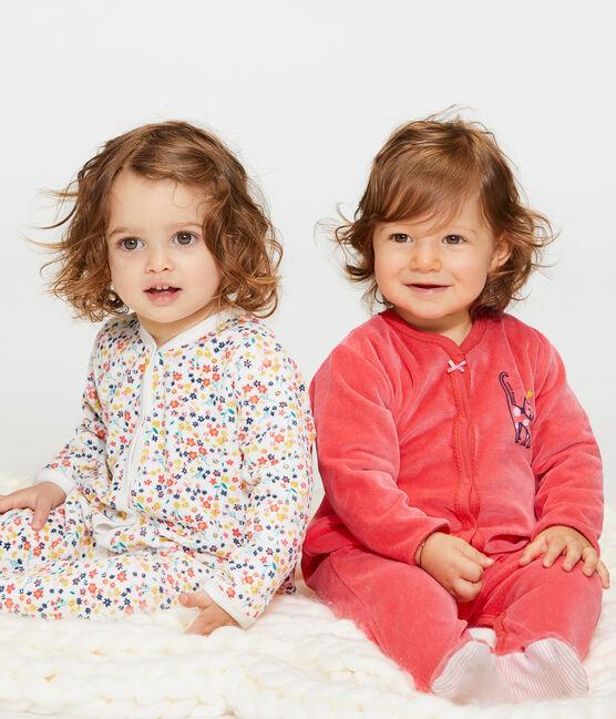 Pijama de terciopelo para bebé niña rojo Signal