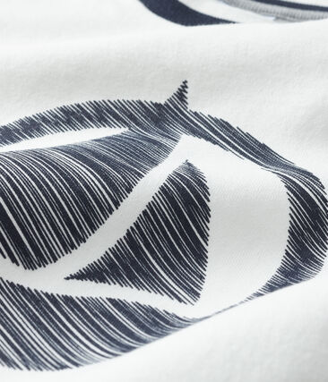 Camiseta de manga corta para niño blanco Marshmallow