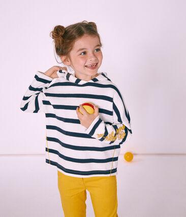 Jersey marinero con capucha infantil para niña