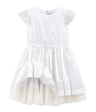 Vestido de ceremonia de niña blanco Ecume