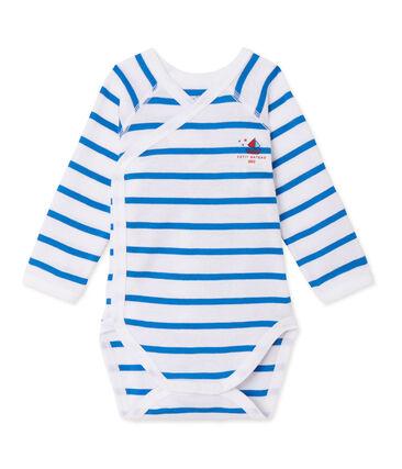 Body de manga larga de rayas de primera puesta para bebé niño