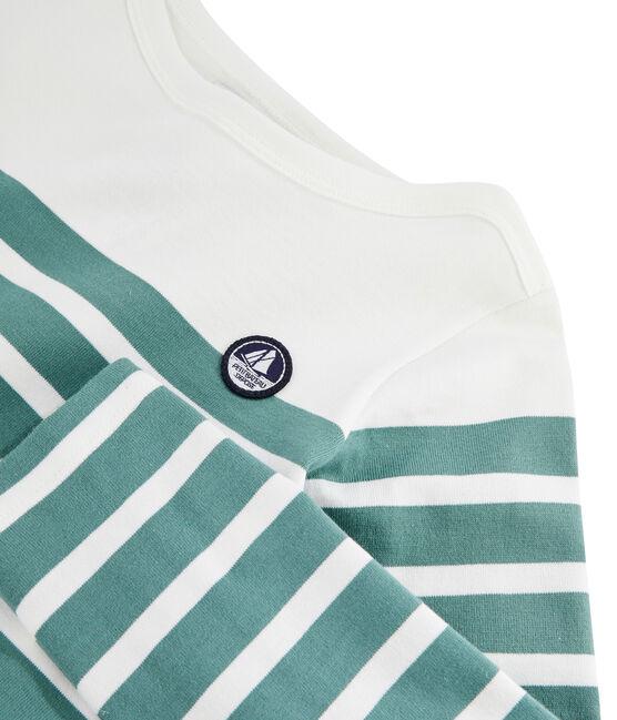 Marinera de punto jersey infantil blanco Marshmallow / azul Brut