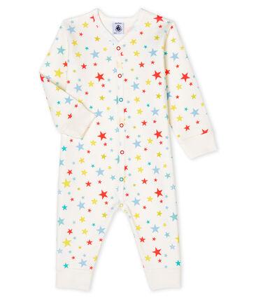 Pijama sin pies de túbico para bebé de niño blanco Marshmallow / blanco Multico