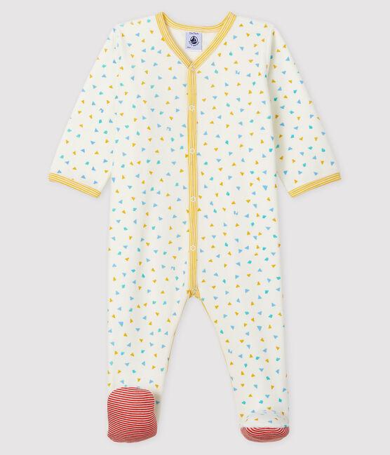 Pelele de terciopelo con estampado de confetis para bebé blanco Marshmallow / blanco Multico