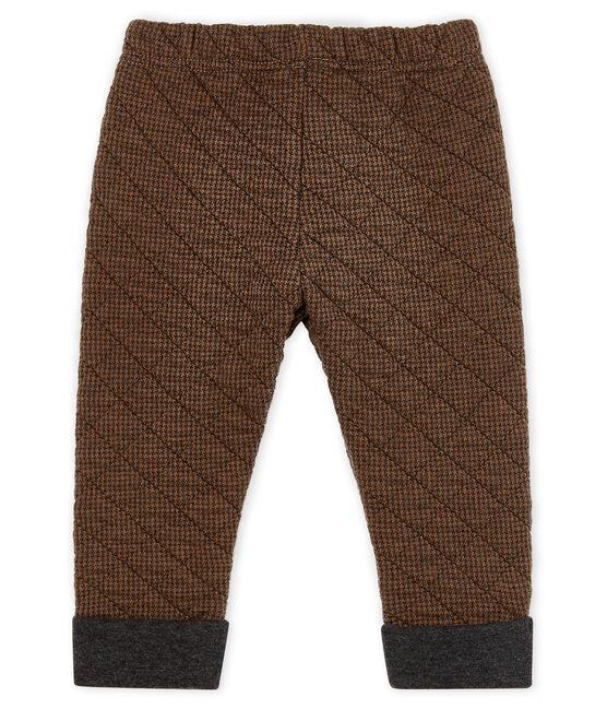 Pantalón de tela túbica de pata de gallo para bebé niño negro City / marrón Cocoa