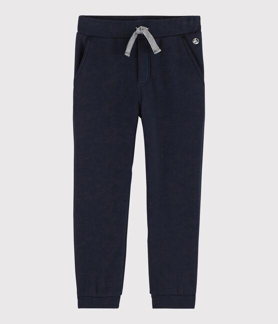 Pantalón de muletón para niño azul Smoking