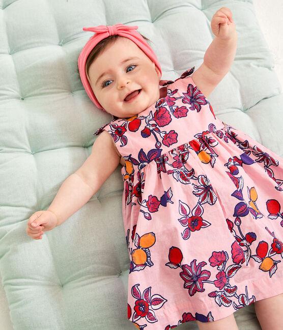 Braguita «bloomer» estampada para bebé niña rosa Merveille / blanco Multico