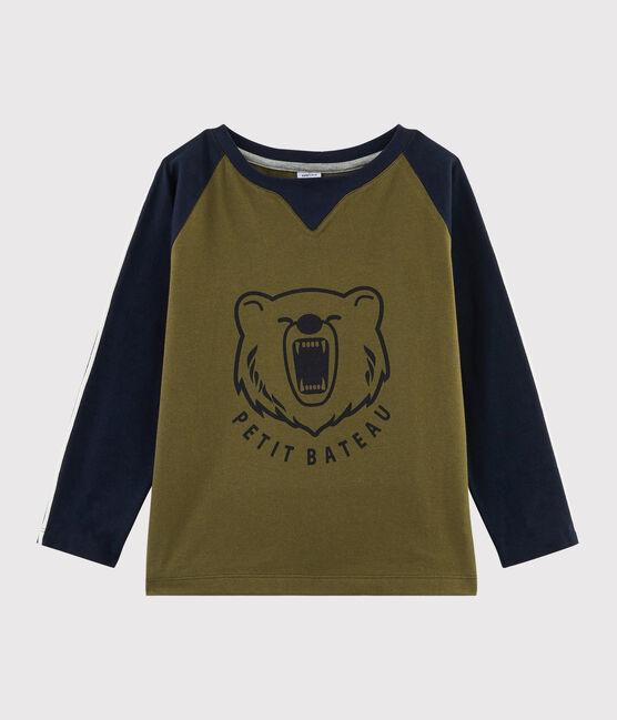 Camiseta serigrafiada para niño MILITARY/SMOKING