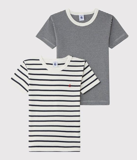 Juego de 2 camisetas de rayas para niño pequeño lote .