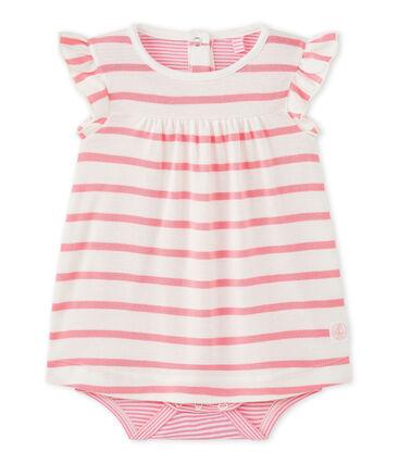 Vestido body de bebé niña de rayas
