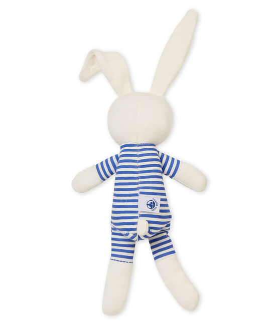Doudou conejito sonajero azul Smoking / blanco Marshmallow
