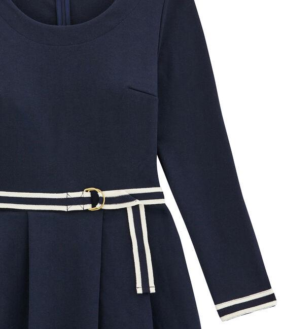 vestido para mujer con cintura marcada azul Smoking