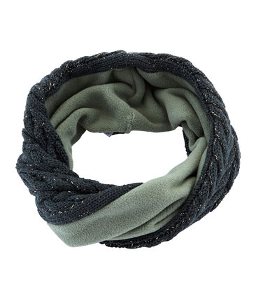 Cuello para niña en mezcla de lana