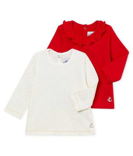 Lote de 2 blusas para bebé niña lote .
