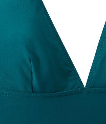 Bañador de 1 pieza para mujer verde Rivage