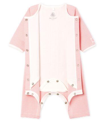 Bodyjama sin pies para bebé niña de punto