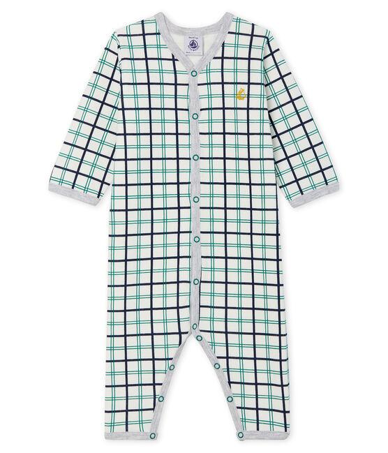 Pijama sin pies de túbico para bebé niño blanco Marshmallow / blanco Multico
