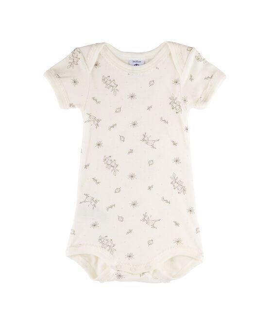Body de manga corta para bebé niña blanco Marshmallow / blanco Multico