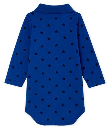 Body de manga larga con cuello de polo para bebé niño azul Limoges / azul Smoking