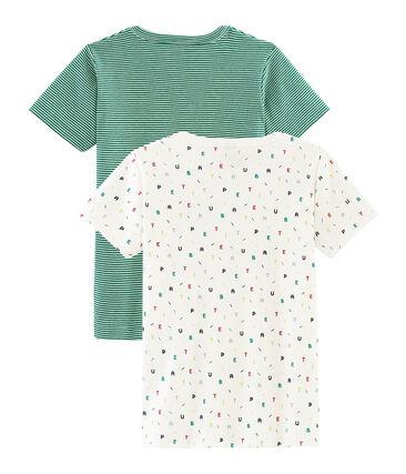 Par de camisetas manga corta para niño