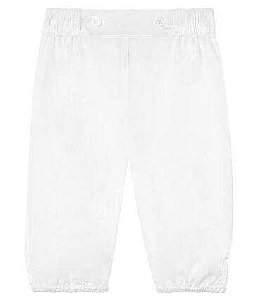 Pantalón de vestir de popelina lisa para bebé niño.