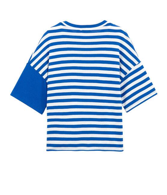 camiseta de playa adulto azul Perse / blanco Marshmallow