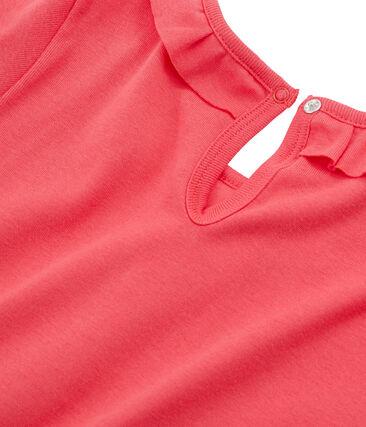 Camiseta manga larga infantil para niña rojo Signal