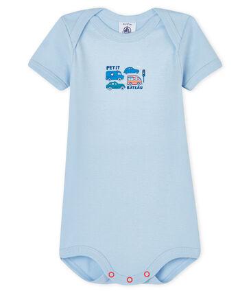 Bodi de manga larga para bebé niño-niña azul Jasmin