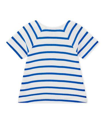Camiseta bebé niña de manga cortos a rayas