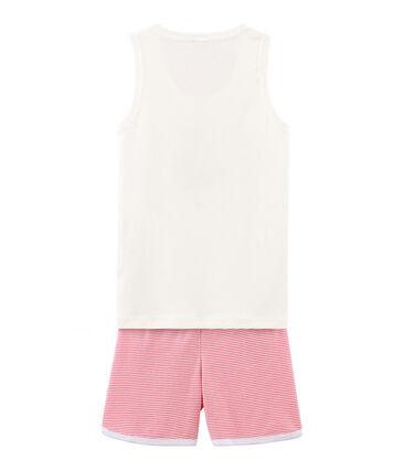 Pijama corto de punto para niña