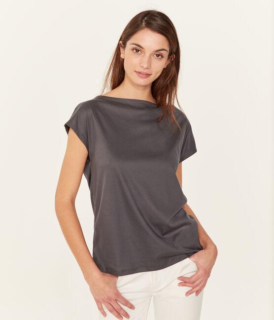 Camiseta manga corta de algodón sea island para mujer MAKI