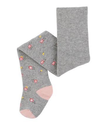 Pantis para bebé niña rosa Charme / gris Subway