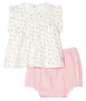 Conjunto 2 piezas para bebé niña blanco Marshmallow / blanco Multico