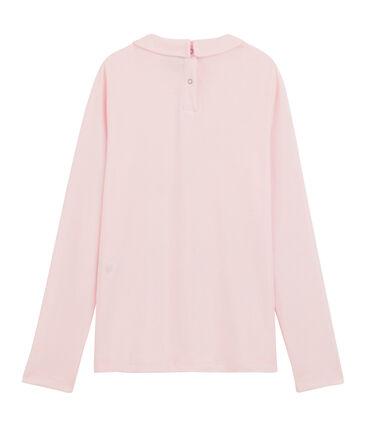 Camiseta niña con cuello babero rosa Vienne