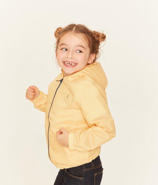 Cortavientos infantil unisex amarillo Honey / blanco Marshmallow