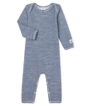 Body largo para bebé de lana y algodón