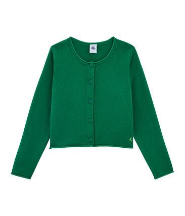 Cárdigan de punto para niña verde Ecology