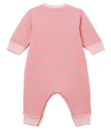 Pijama de bebé sin pies en túbico para niño rosa Cheek / blanco Marshmallow
