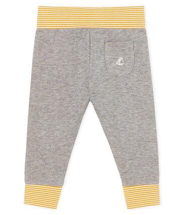 Pantalón de tela túbica para bebé gris Subway