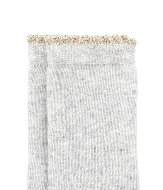 Calcetines para niña gris Beluga