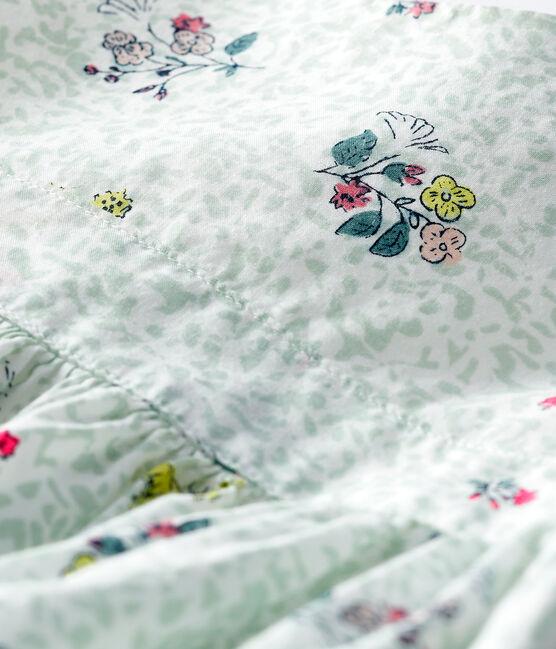 Vestido de manga corta estampado para bebé niña blanco Marshmallow / blanco Multico