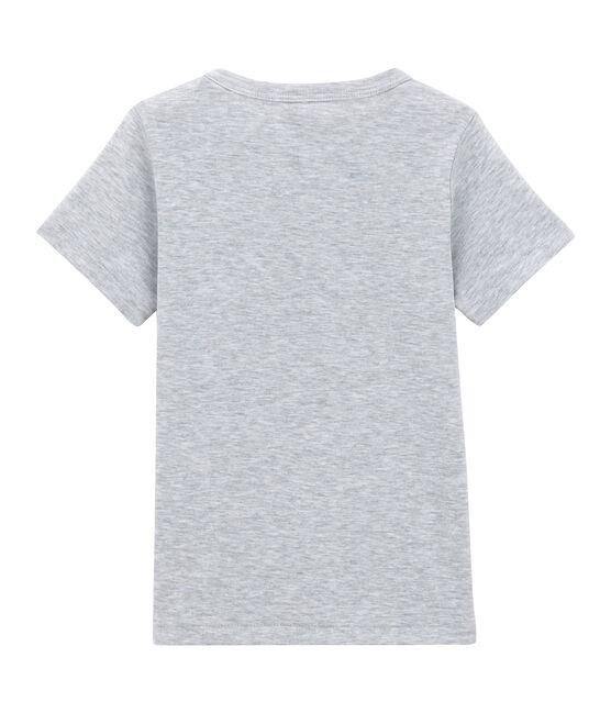 Camiseta de manga corta para niño gris Poussiere Chine