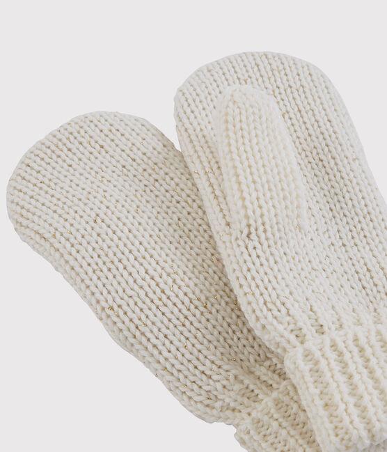 Manoplas para niña blanco Marshmallow / amarillo Or