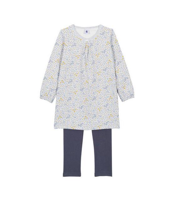 Pijama camisón para niña gris Poussiere / blanco Multico