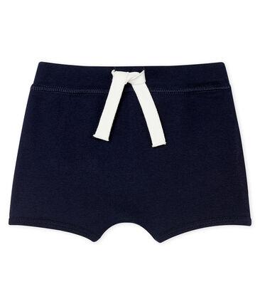 Pantalón corto liso para bebé unisex azul Smoking