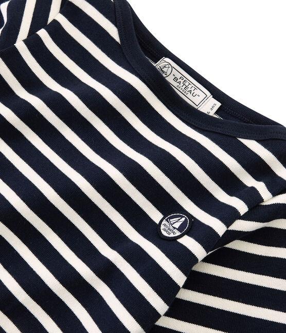 Jersey marinero icónico para niño azul Smoking / beige Coquille