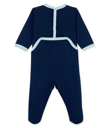 Pelele de punto para bebé niño azul Haddock