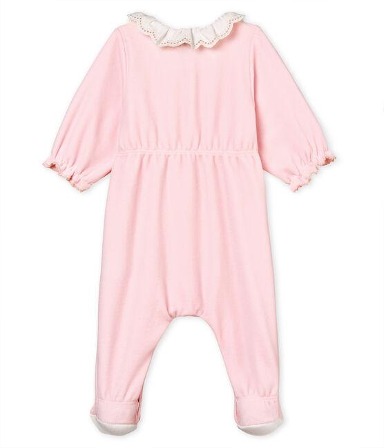 Pelele de terciopelo de algodón para bebé niña VIENNE