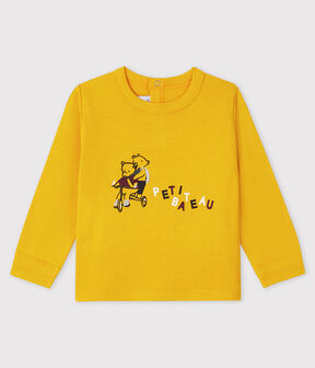 Camiseta para bebé niño amarillo Boudor
