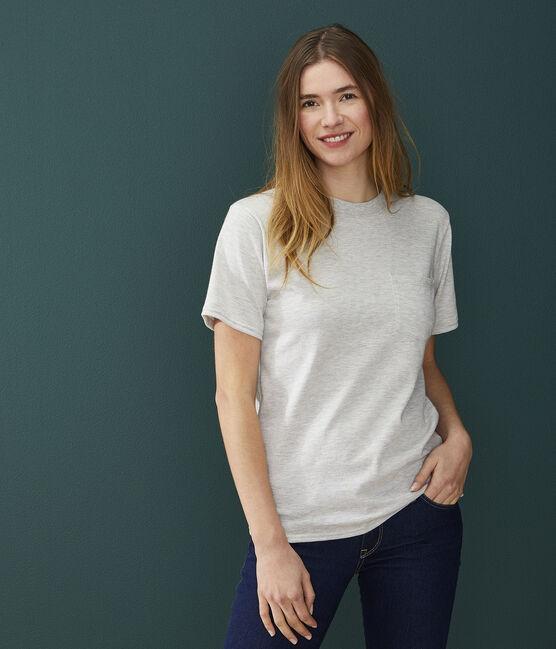 Camiseta unisex gris Beluga